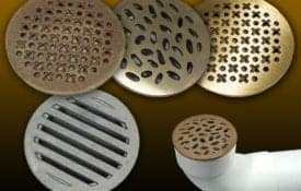 TDS aluminim grates fit into point drain