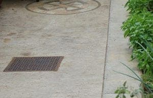 catch-basin-grate-in-courtyard