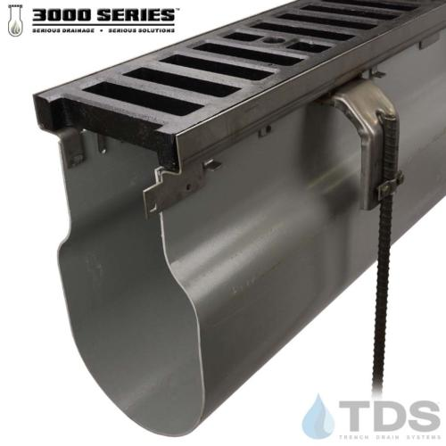 3000 Series  Stainless Steel frame w/ Ductile Iron Slotted Grate