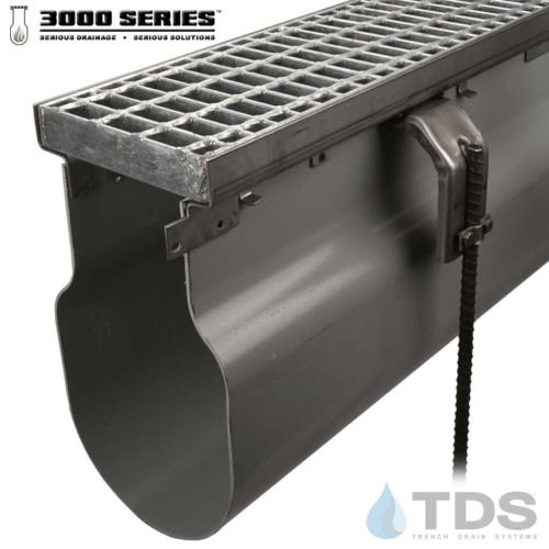 3000 Series Stainless Steel frame w/ Galvanized Bar Grate