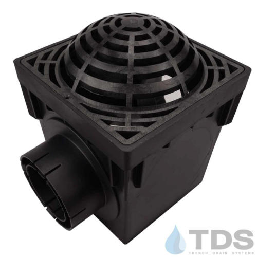 NDS-2outlet-catch-basin-4in-outlets-blk-atrium-grate-TDSdrains