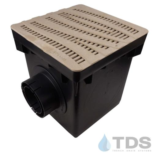 NDS-2outlet-catch-basin-4in-outlets-sand-wave-grate-TDSdrains