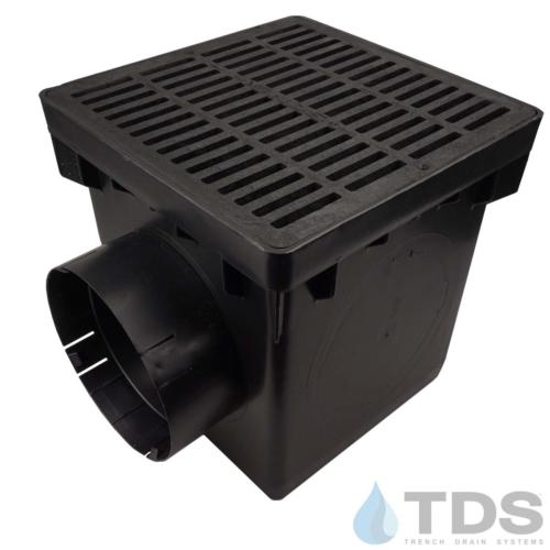 NDS-2outlet-catch-basin-6in-outlets-blk-slotted-grate-TDSdrains