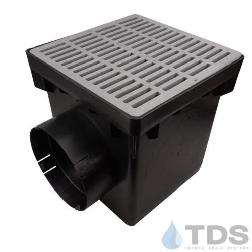 NDS-2outlet-catch-basin-6in-outlets-grey-slotted-grate-TDSdrains