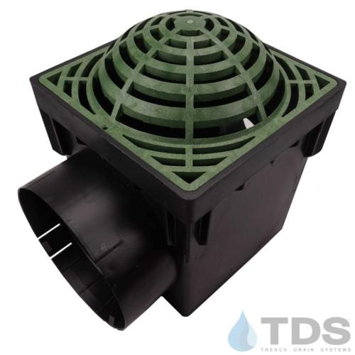NDS-2outlet-catch-basin-6in-outlets-grn-atrium-grate-TDSdrains