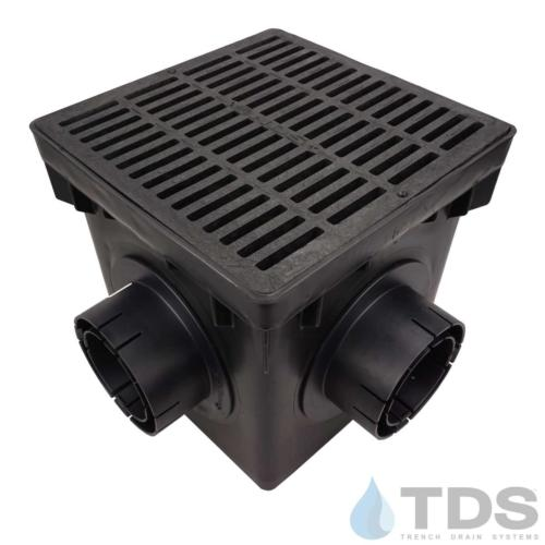 NDS-4outlet-catch-basin-4in-outlets-blk-slotted-grate-TDSdrains