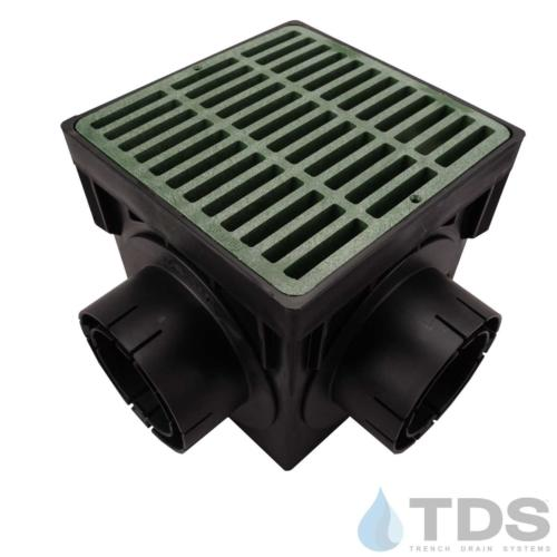NDS-4outlet-catch-basin-4in-outlets-grn-slotted-grate-TDSdrains