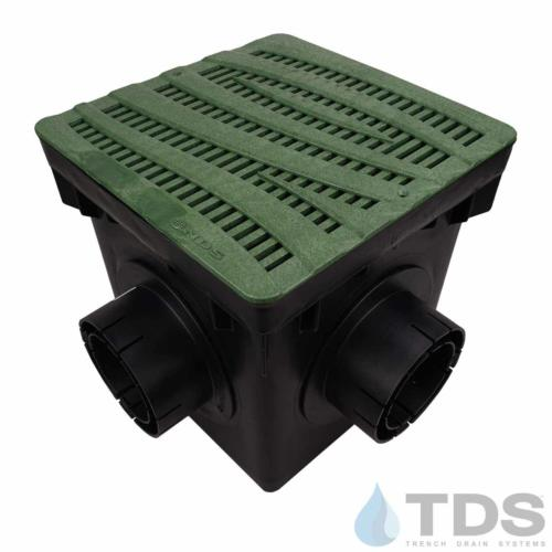 NDS-4outlet-catch-basin-4in-outlets-grn-wave-grate-TDSdrains