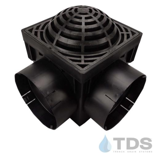 NDS-4outlet-catch-basin-6in-outlets-blk-atrium-grate-TDSdrains