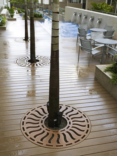 Jonite trench drain system grates-pool deck drains