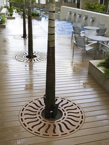 Jonite trench drain system grates-pool deck drains